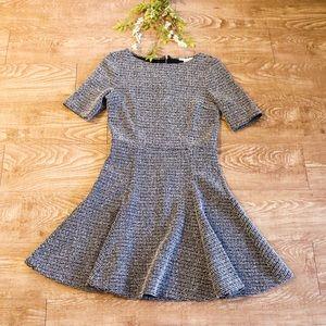 Bar III Tweed Fit + Flare Dress